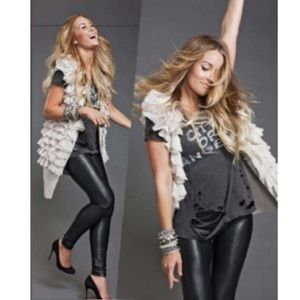 Lauren Conrad leather leggings (medium)